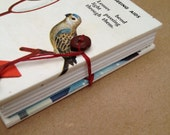 Tiny Book - Mini Diary - Small Notebook  - Birds who wear Glasses
