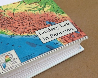 Personalized Versatile Travel Journal with Pockets and Envelopes -- Made to Order for You