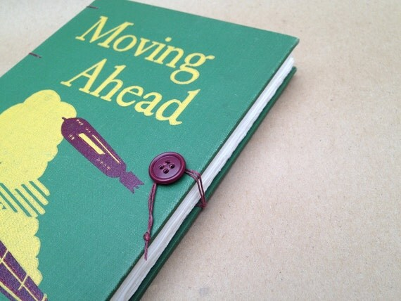 Travel Journal from Vintage Book - Moving Ahead - for a Trip or Grand Adventure