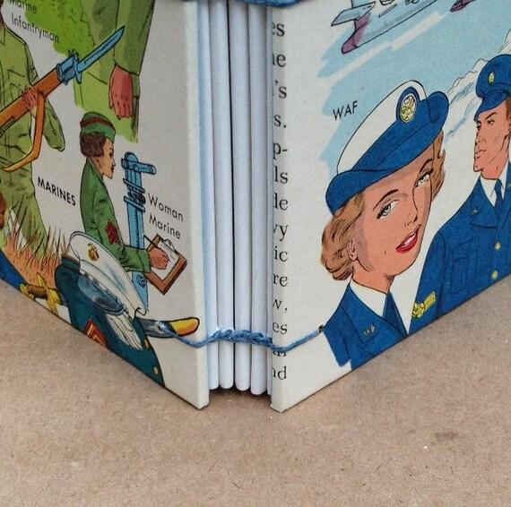 Mini-Book Journal Notebook - Men and Women in Uniform