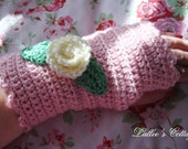 Soft PInk Fingerless Gloves
