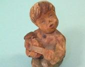 Hand Carved Wooden Vintage Figurine