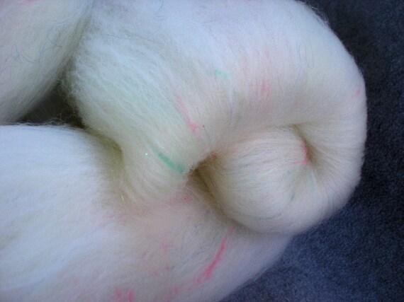 Sock spinning batts tweed glittery socks, Confetti, 4.6 oz.