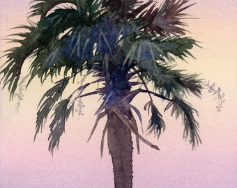 Sunrise Palm tree silhouetted against the sky