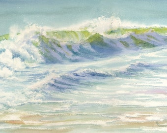 Splash Giclée print of breaking wave