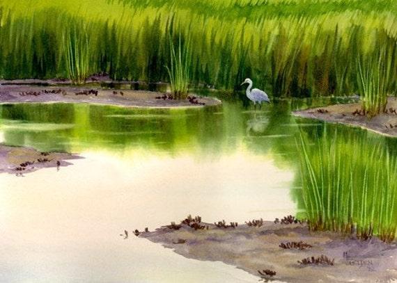 Marsh Lady giclée print