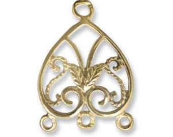 Elegant Elements Clasp 17 5mm Gold Plated By