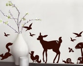 Woodland wall graphic