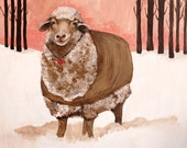 Sheep in Jacket Signed Archival Print