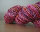 "Handspun Moonrover ""Pink Sea Urchin"" Yarn"