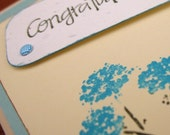 Butter-n-blue Congratulations Card