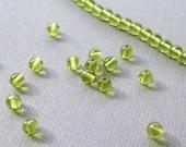 4mm green apple glass beads