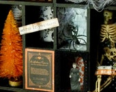 The Haunted Halloween Curio Cabinet - 8 page PDF Instruction Sheet