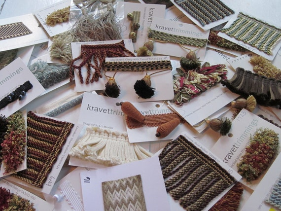 40 Piece Lot Upholstery Trim Samples