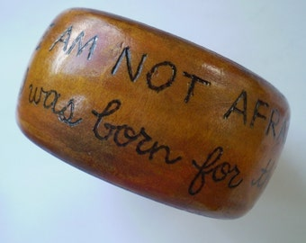 Joan of Arc Inspired Wood Bangle
