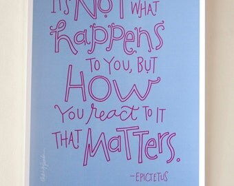 Epictetus Quote - Digital Print Mini Poster