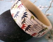 Japanese Chiyogami Wood Bangle Bracelet - Bamboo Dream