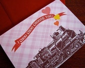 I Choo Choo Choose You Card Sweet and Romantic Lovey Dovey Greeting Card