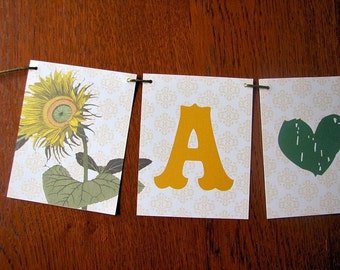 Sunflower Delight Paper Party Banner Great for weddings, parties and showers CHOOSE WORDING