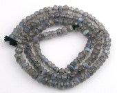 14 Inch of AAA Grade Labradorite Faceted Rondelle  4mm x 2.5mm to 3.5mm x 2mm