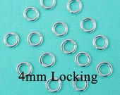 50 pcs - 20g 4mm Sterling Silver Open Jump Ring