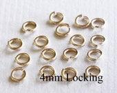 20 pcs - 20g  4mm  14k Gold Filled Open Jump Ring