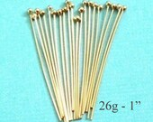 20 - 26g 14k Gold Filled Headpin with Ball  1 inch