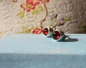 Garnet and Silver Studs