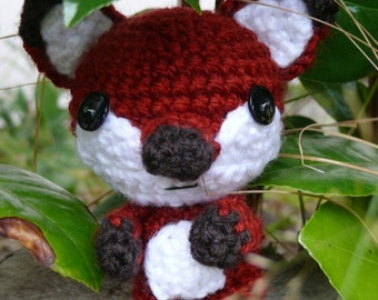 Woodland Series 1 - Little Fox   Crochet pattern PDF