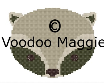 Woodland Raccoon Cross stitch pattern