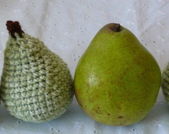 Play Food Series Pear Crochet Pattern PDF