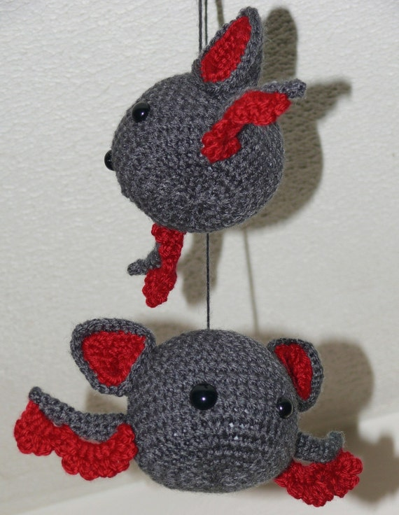 Baby Amigurumi Bat Crochet Pattern PDF by voodoomaggie on Etsy