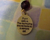 Dark Red - Purr Charm - Pet Pendant Jewelry - For Pet Lovers Also