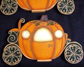 Pumpkin Coach Hand Painted Fairyt Tale Holiday Ornament