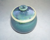Small Lidded Jar in Turquoise Combo Glaze