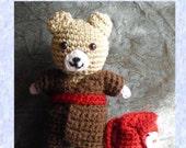 Hoshun bear with kimono and rucksack PDF pattern