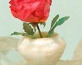 Porcelain Cabinet Vase in Dollhouse Scale