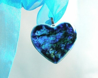 Stormy Sky Heart Pendant