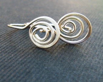 triple swirly mini-hoops in sterling silver