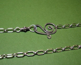 """JUST A CHAIN- 18"""" long and short- sterling silver"""