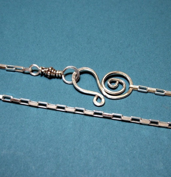 JUST A CHAIN  sterling silver long box chain CUSTOM length