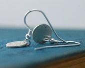 Silver Earrings - Silver Circle Earrings - Simple Earrings - Minimalist Earrings - Simple Jewelry - Minimalist Jewelry - Everyday Earrings