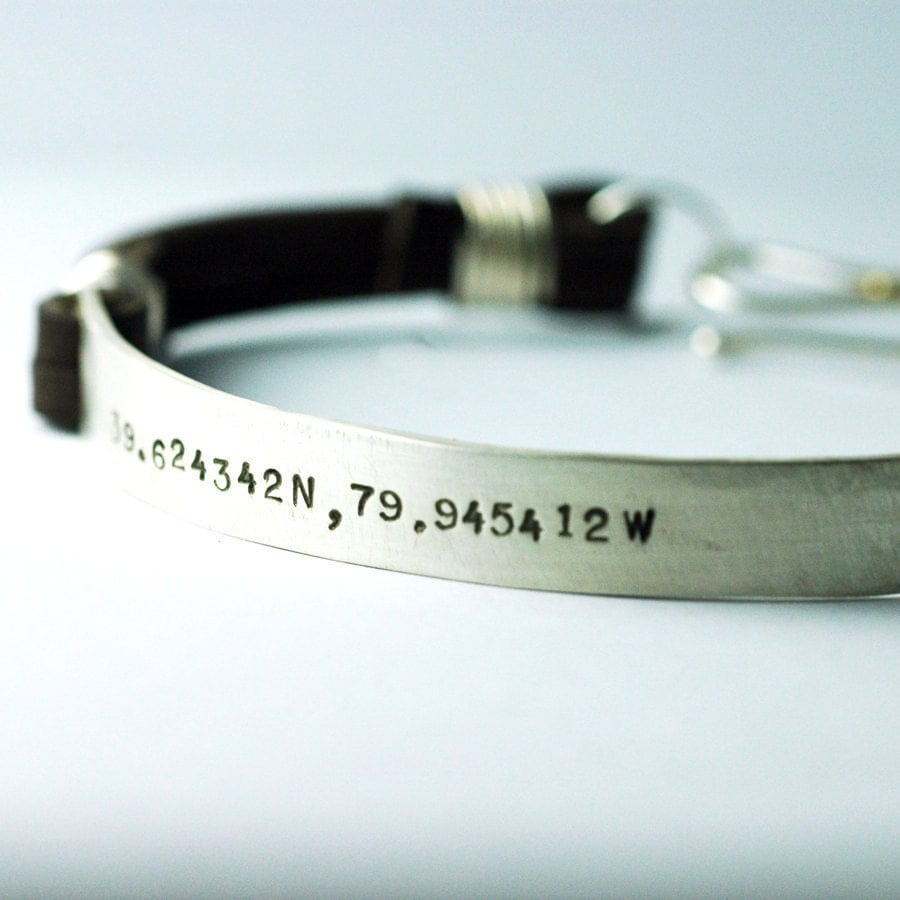 1a6e95c1a8937 Personalized leather bracelets for men / Columbus in usa