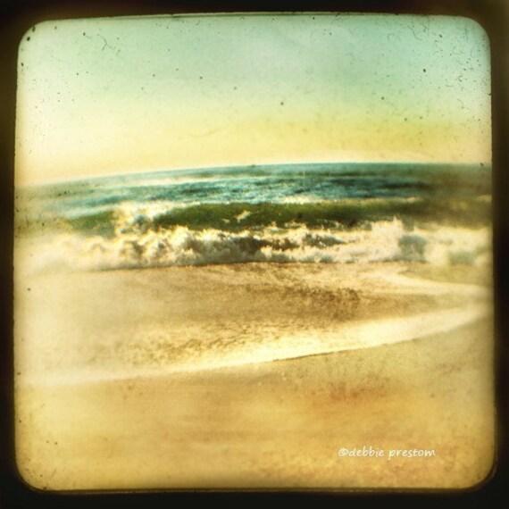 ocean photo, vintage decor, Vintage style photo, shabby chic decor, beach photography, landscape photography, beach decor