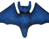 Blue Spiderweb Lace Bat Pillow