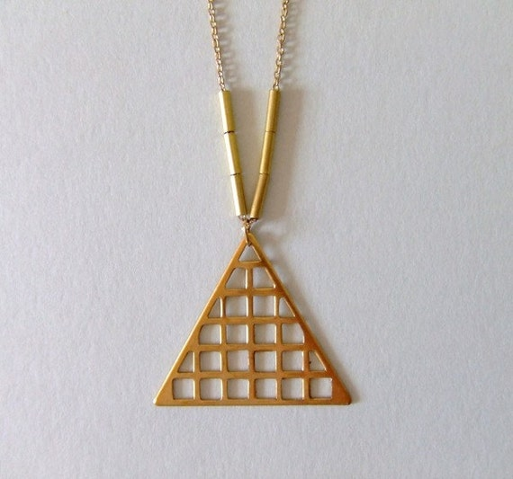 no. 315 - brass triangle necklace