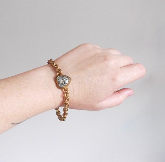 no. 495 - pyrite heart bracelet