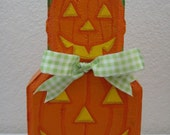 Outdoor Decor- Stacked Pumpkins Patio Person Halloween Garden Art Gift