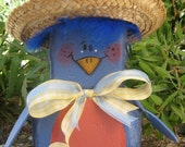 Betty Bluebird Patio Person Garden Art Outdoor Decoration Garden Decor