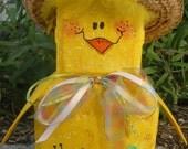 Spring Chick Patio Person Garden Art Outdoor Decoration Garden Decor